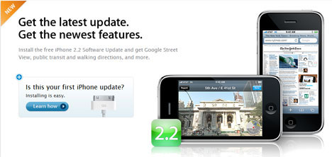 Прошивка для iPhone версии 2.2