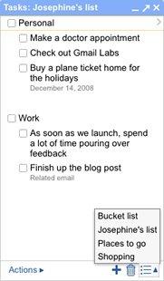 Список задач в GMail