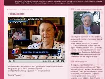 В Испании умерла самая старая блогерша в мире