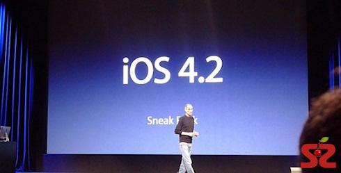 iOS 4.2 выйдет 12 ноября