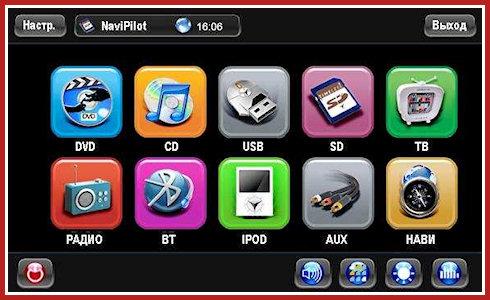 Мультимедийный центр NaviPilot в Kia Sorento