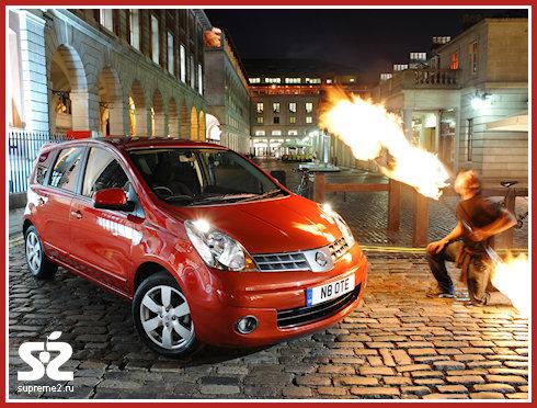 Владелец поджег свой собственный автомобиль Nissan Note