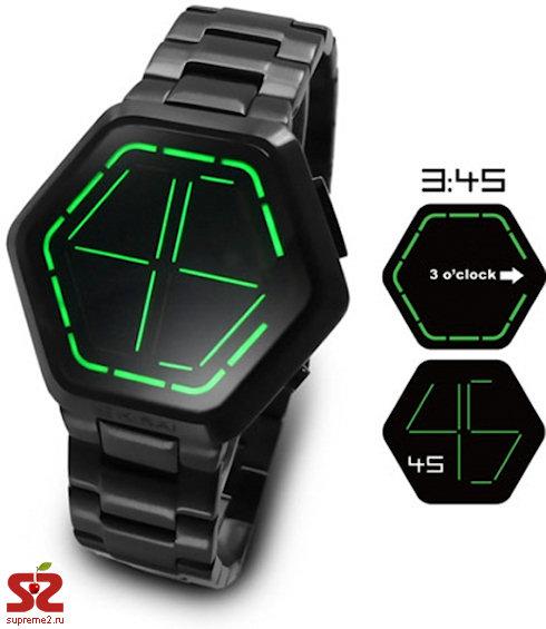 Шестиугольные часы Kisai Night Vision