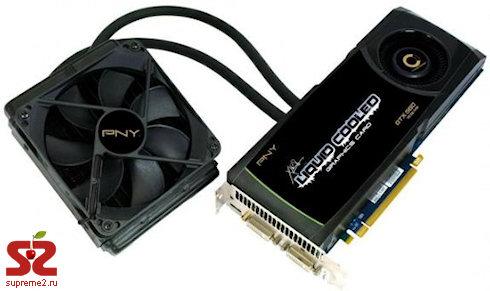 Компания PNY объявила о начале поставок графических карт GeForce с водяным охлаждением