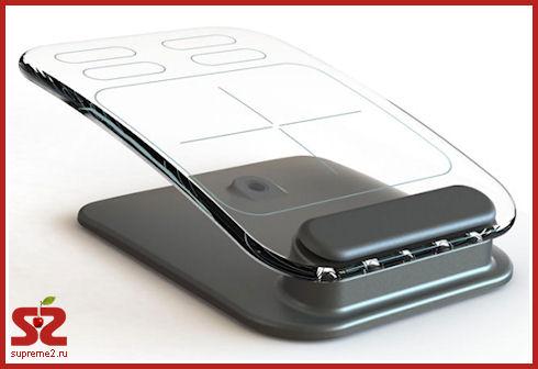 Клавиатура и мышь из стекла