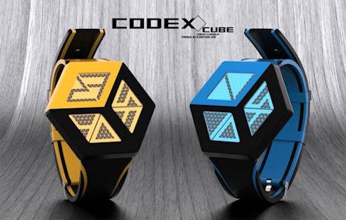 Очередные необычные часы Codex Cube от TokyoFlash