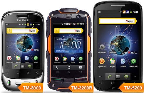 Яндекс.Shell на смартфонах teXet TM-5200