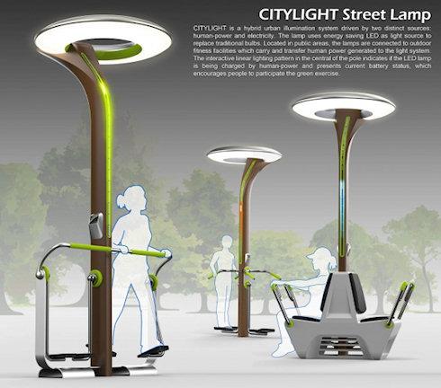 CityLight: фонари на энергии человека