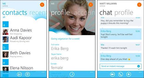 Skype 1.0.0.0 для Windows Phone