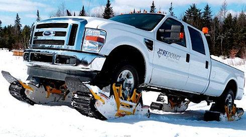 Track N Go: внедорожник превращается… в снегоход!