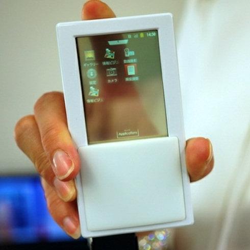 Прозрачный двусторонний дисплей для смартфона