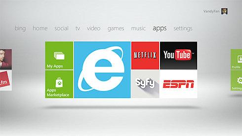 Web-приложения на Xbox 360