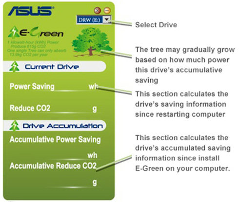 ASUS E-Green – экология в DVD-приводе