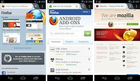Firefox 14 для Android