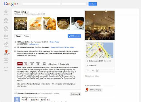 Google+ Local - отзывы об интересных местах