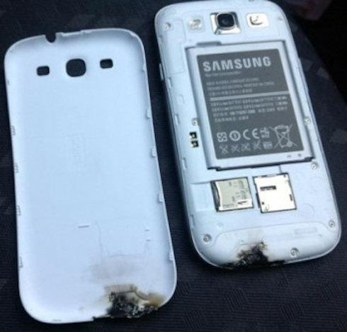 Самовозгорание Samsung Galaxy S III