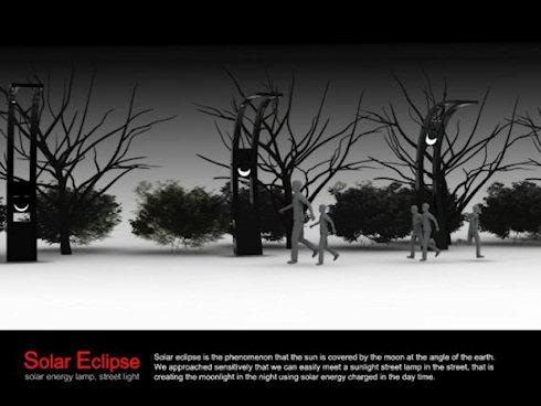 Solar Eclipse – оригинальный уличный фонарь