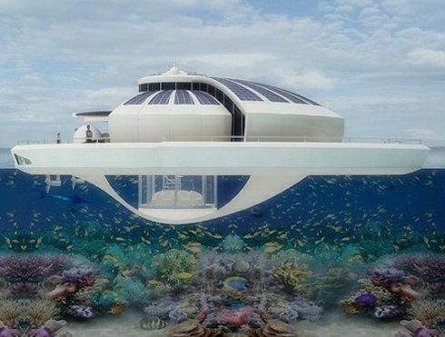 Плавучий отель на солнечных батареях