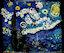 Картина Ван Гога «Звездная ночь» воссоздана из домино