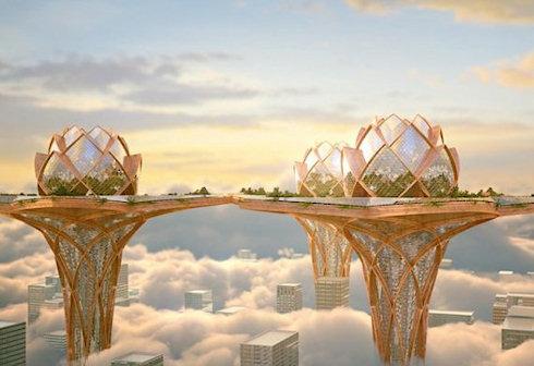 Экологичные здания-лотосы