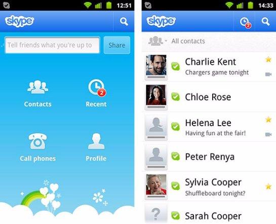 Skype для Андроид и PC