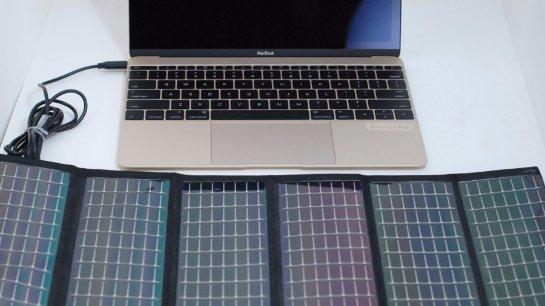 Создана уникальная солнечная зарядка для 12-дюймового MacBook