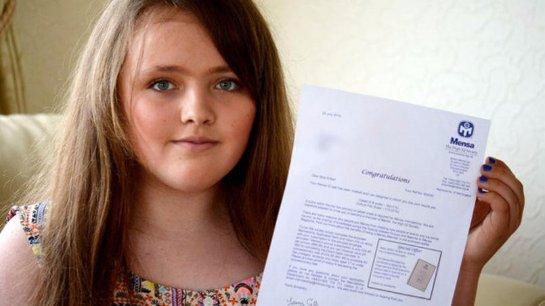 Результаты теста на IQ 12-летней девочки оказались выше, чем у некоторых гениев