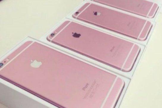 По интернету распространяются фотографии iPhone 6S и iPhone 6S Plus в розовом цвете