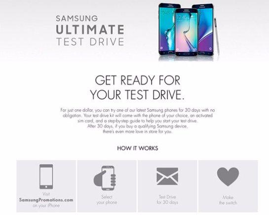 Обладатели iPhone раскупили все смартфоны Samsung в тест-драйве