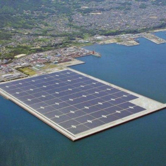 В Японии появятся плавучие солнечные электростанции
