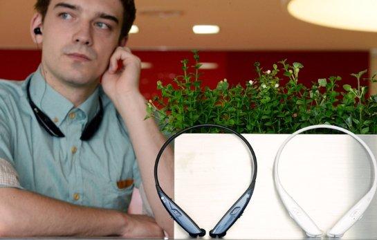 Известная компания LG презентовала новые беспроводные Bluetooth наушники