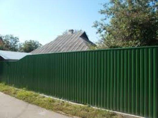 Профнастил — листовой материал для установки заборов