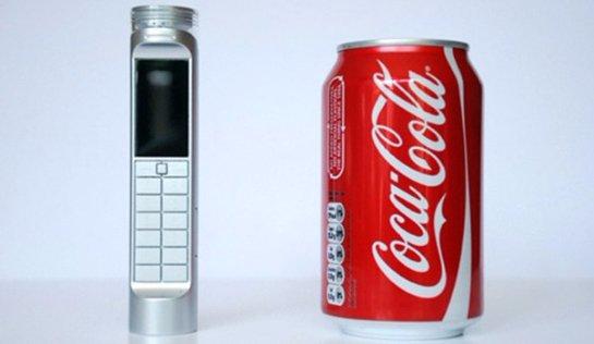 Создан телефон, который заряжается от «Кока-колы»