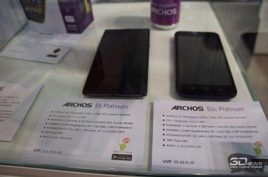 Компания Archos презентовала несколько новых телефонов