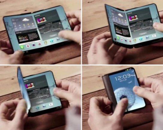 В начале следующего года Samsung  выпустит смартфон с гибким дисплеем