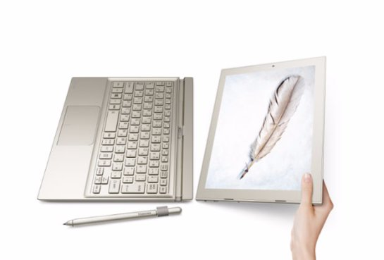 Toshiba выпустила планшет DynaPad 2 в 1 на Windows 10