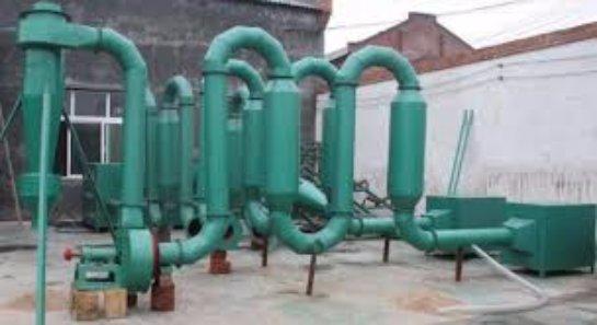 Сушилка сырья при производстве топливных брикетов