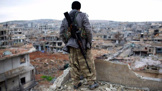 Сирийские добровольцы борются с ИГИЛ