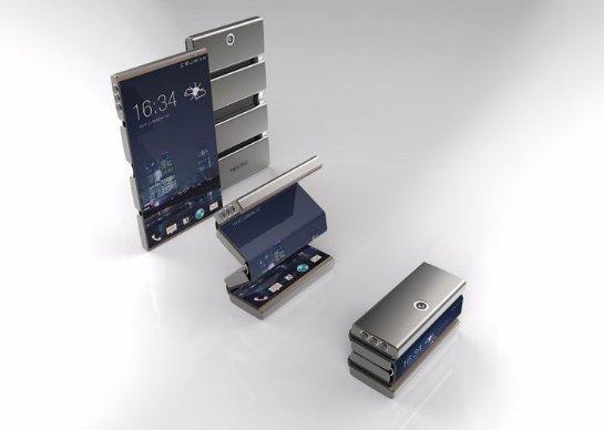 Уникальный складной смартфон от компании R&D CORE Limited