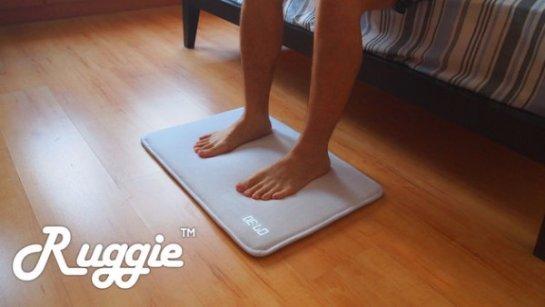 Ruggie — «умный» будильник в виде коврика