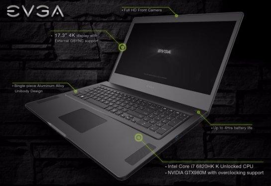 SC17- мощный игровой ноутбук с 4K-матрицей