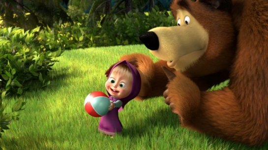 Американцы фанатеют от мультика «Маша и Медведь»