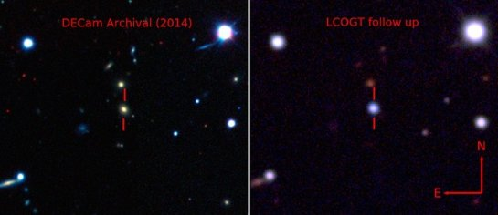 Замечена необычно яркая сверхновая. В 50 раз ярче нашей галактики
