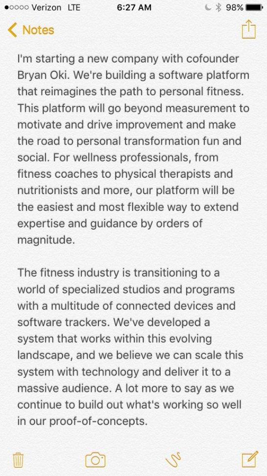 Бывший глава Twitter Дик Костоло запускает фитнес-стартап