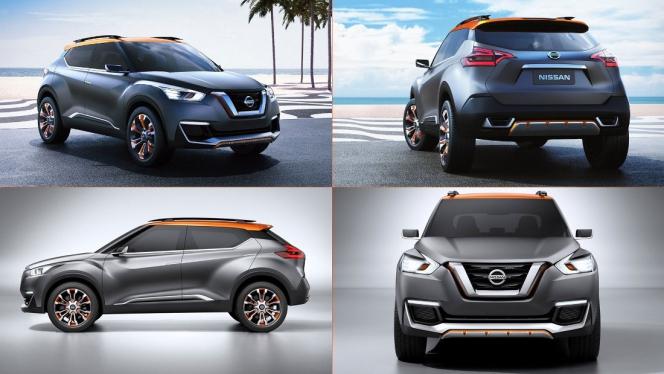 В 2016-м году появится новый кроссовер Nissan Kicks