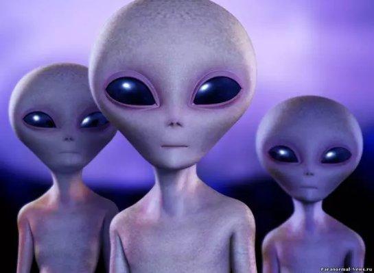 Инопланетяне, которые летали на аппарате странной формы