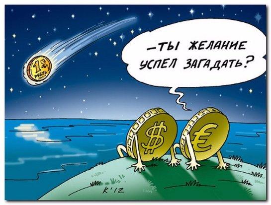 Молниеносное падение рубля в одной анимации