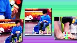 Талант от рождения: мальчик девяти лет собрал кубик Рубика ногами и руками одновременно