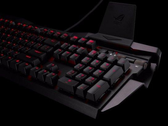 ASUS ROG Horus GK2000 — новая клавиатура с подставкой для смартфона