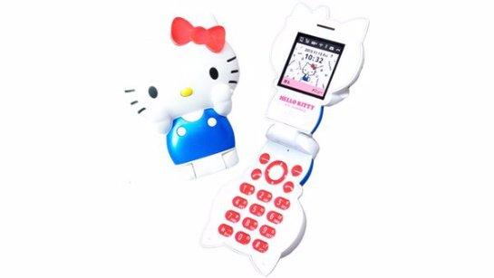Создан мобильный телефон в виде Hello Kitty